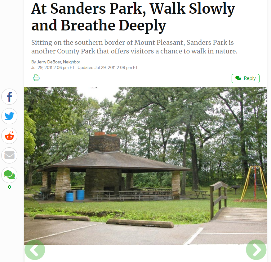 Sanders Park Article Racine County Parks